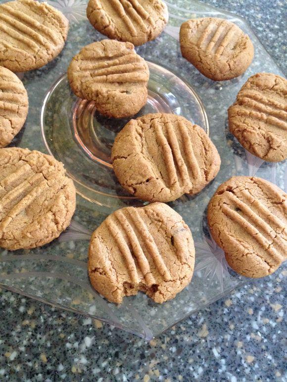 Four ingredient peanut butter cookies